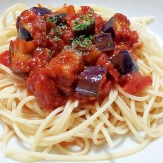 茄子とトマトソースの冷製パスタ
