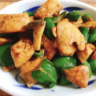 鶏むね肉が柔らかい♡ピーマンとエリンギ のマヨ炒め