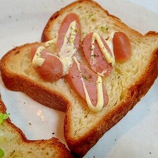 マジソル/マヨで ウインナーデニッシュパン