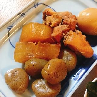 電気圧力鍋で!鶏と玉こんにゃくの煮物