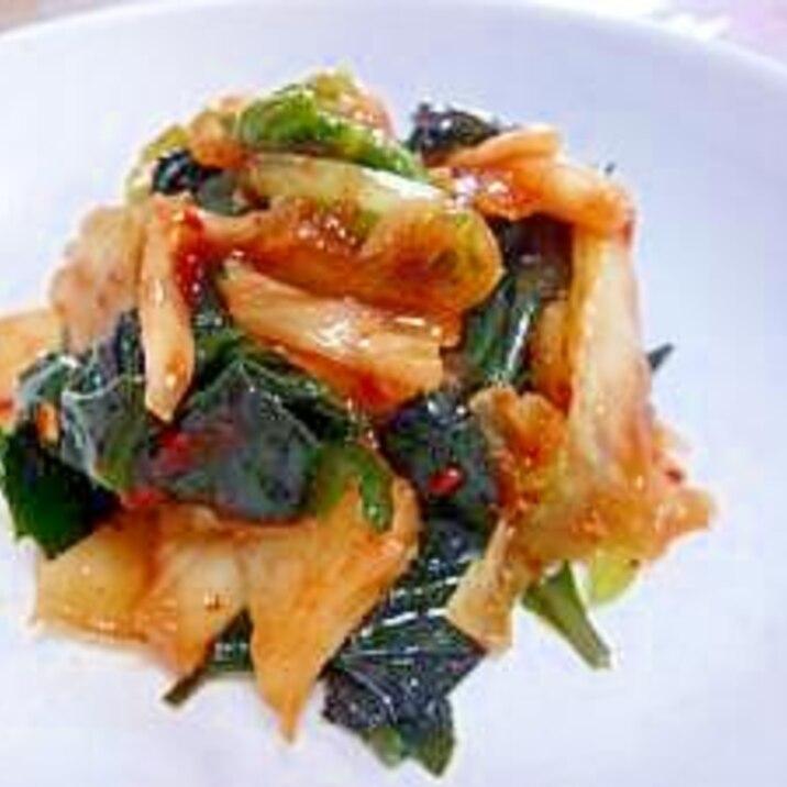 沖縄野菜★ハンダマのキムチあえ