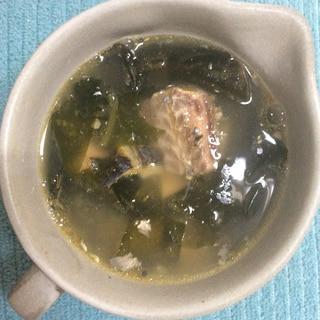 サバ缶で♪中華風スープ