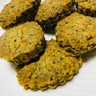 小麦粉、卵、バター不使用!ホロホロ黒胡麻クッキー
