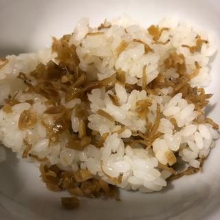 ちりめん山椒と生姜の混ぜごはん