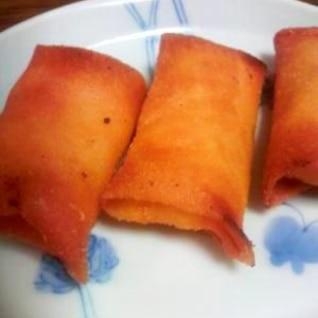 長芋とベーコンとチーズの春巻き