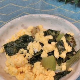 お弁当の副菜に♡高菜漬けの卵和え