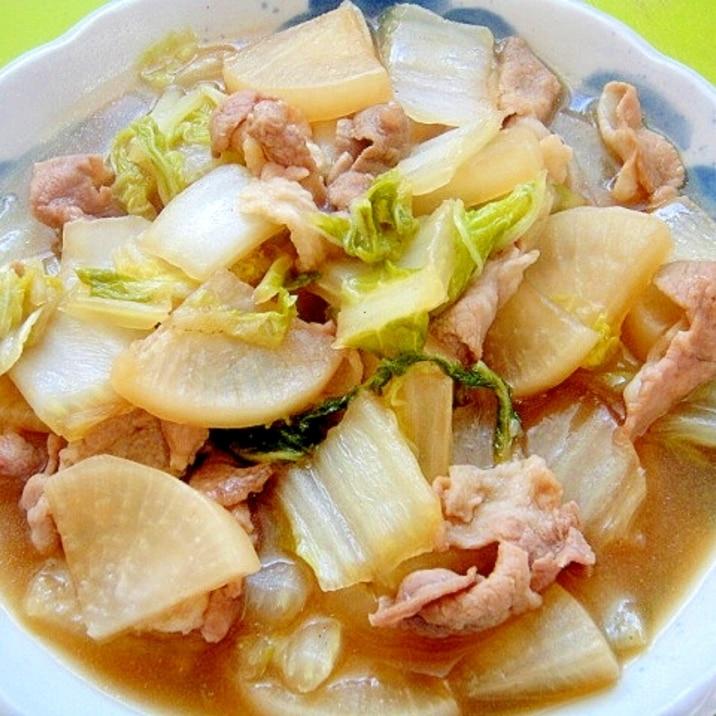 大根と白菜豚肉のあっさり煮