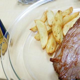 【塊肉】オージービーフ肩肉の揚げ焼きステーキ