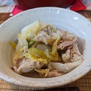簡単!無水調理!白菜と豚バラ肉の重ね蒸し