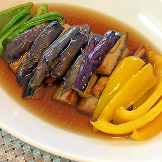 麺つゆでかんたん ☆夏野菜の揚げ浸し