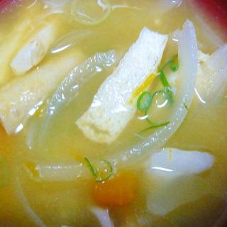 ❤ カニ缶入り! かぼちゃ&舞茸の御味噌汁 ❤