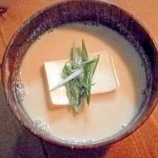 ほっこり落ち着く☆和風豆乳スープ