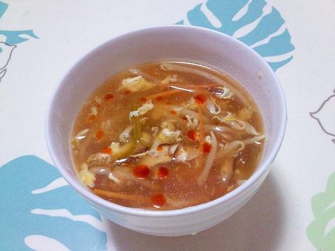 野菜たっぷり酸辣湯スープ++