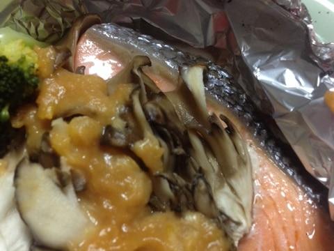 鮭のホイル焼き〜和みのゆず味噌のせ