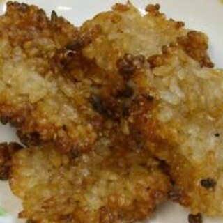 甘くないおやつに、余りご飯で作る梅干し煎餅