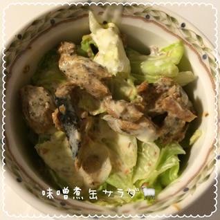 味噌煮缶サラダ