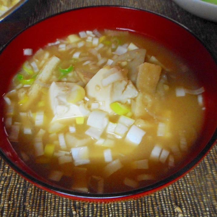 エリンギと豆腐の味噌汁