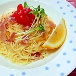 生ハムの冷製パスタ・レモン風味