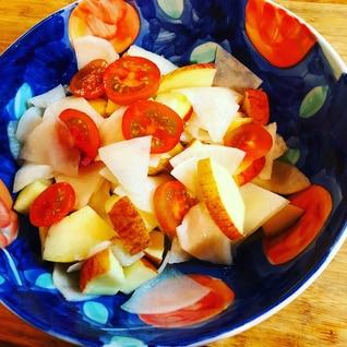 プチトマトと林檎の千枚漬けナマス