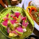 彩り野菜のお豆腐サラダ