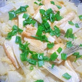 鮭ハラスで 冬のちゃんちゃん焼き