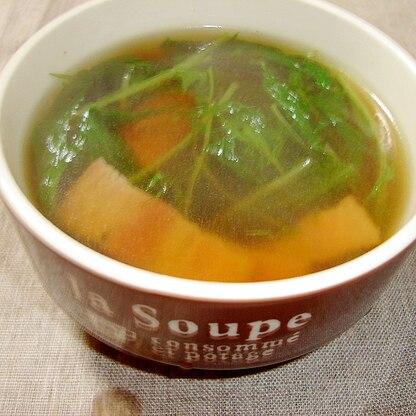 水菜とベーコンのスープ
