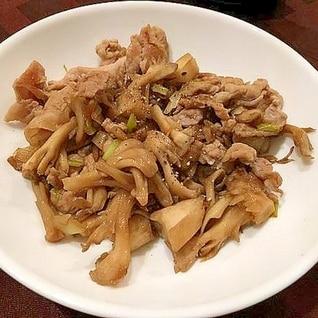 豚肉と舞茸のオイスターソース炒め