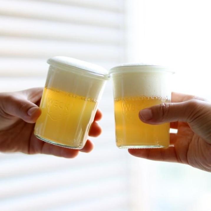 材料2つ!林檎ジュースでビールゼリー