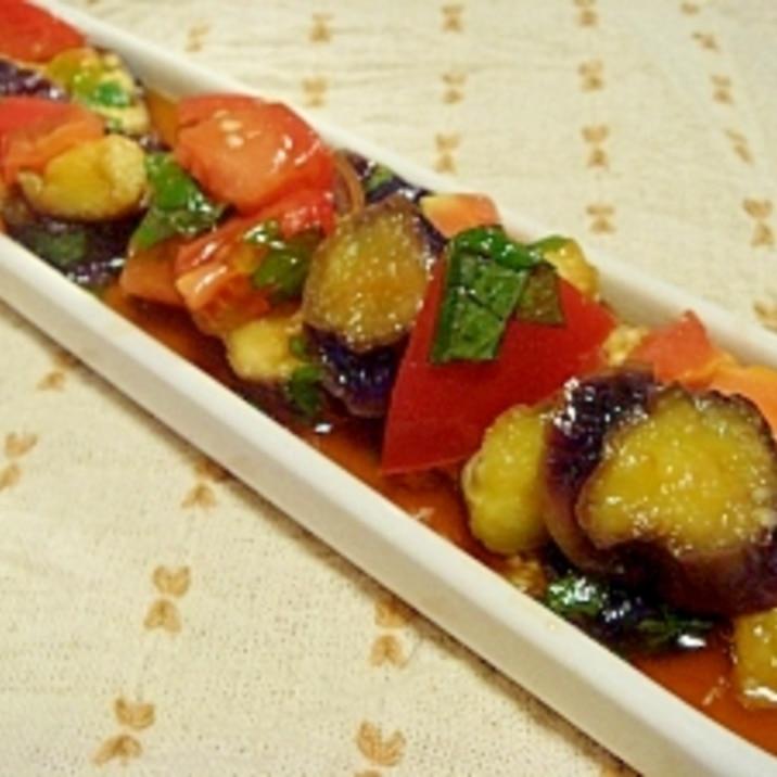 レンジで簡単♪ナスとトマトのさっぱりマリネ