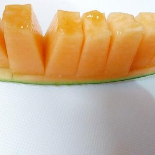 食べやすいメロンの切り方☆