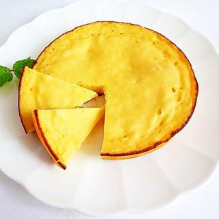 炊飯器で 手作りカッテージチーズのケーキ
