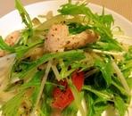 簡単&ヘルシー☆ささみと水菜の和風サラダ