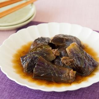 茄子の煮浸し Stewed Eggplant