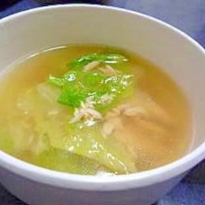 瞬殺!!☆レタスとツナのスープ☆
