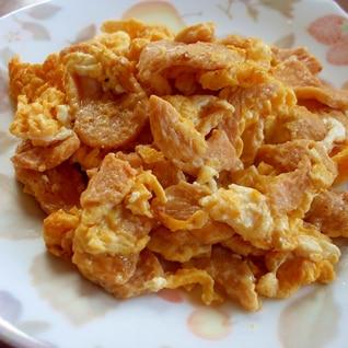 簡単♪ヘルシー❤大豆ミートと卵の炒め物