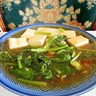 絹こし豆腐でスープ気分