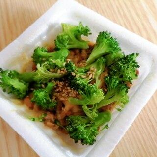 ブロッコリーとごまの納豆