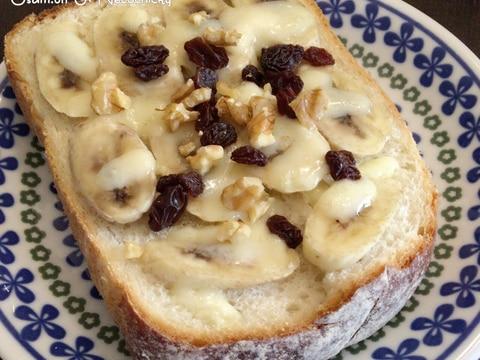 簡単♩ちょっぴりオシャレにレーズン・バナナトースト