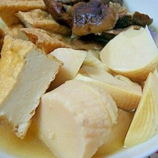 タケノコと厚揚げの煮物