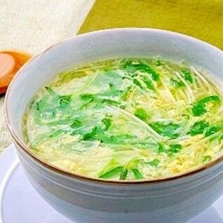 空心菜の新芽のかき玉スープ