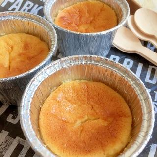 持ち運びに便利♪カップで作る簡単チーズケーキ