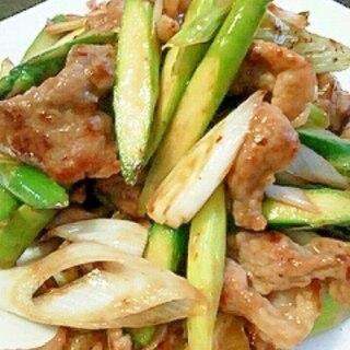 中華風 豚とアスパラのシャキシャキ塩炒め