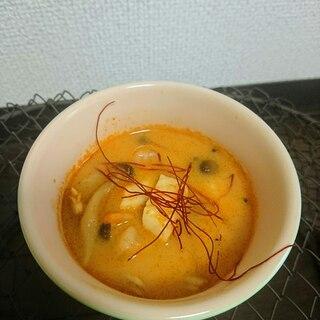 トムヤムクン風豆乳スープ☆