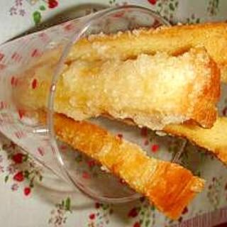 食パンでスティックラスク