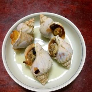 つぶ貝のつぼ焼き@ごま油醤油味。