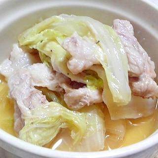 豚肉と白菜の重ね蒸し煮