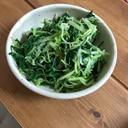 水菜のニンニクポン酢