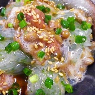 刺身蒟蒻の梅納豆