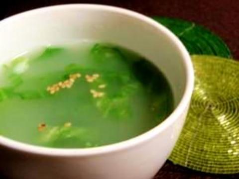 レタスの一番外側の葉で!レタスの中華スープ