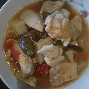 食欲のない時の栄養補給にごろごろ野菜スープ♪簡単!